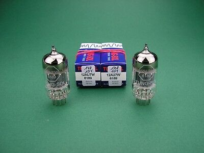2 x 12AU7 6189 TUNG-SOL balance select & matched pair - ECC82 Röhre Tube Valve