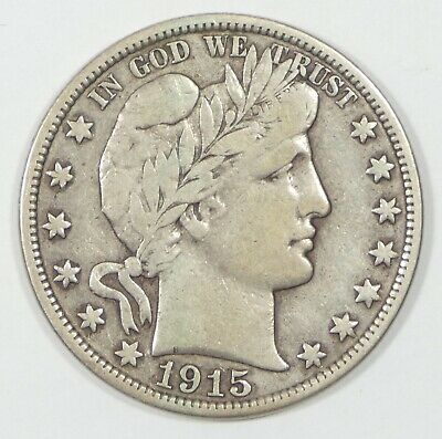 1915-S Barber Half Dollar FINE Silver 50-Cents