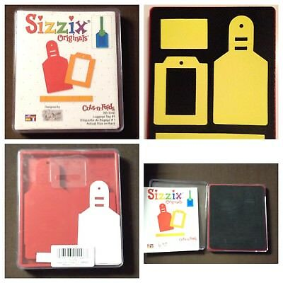 Sizzix Die Luggage Tags #1 Layered Originals Scrapbook Diecut Retired NEW Tag
