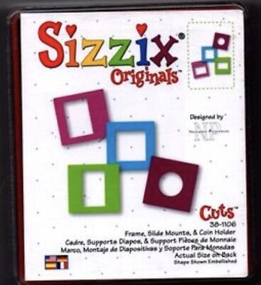 Sizzix Die Coin Holder SlideMount Mini Photo Frame Scrapbook Diecut Retired Case