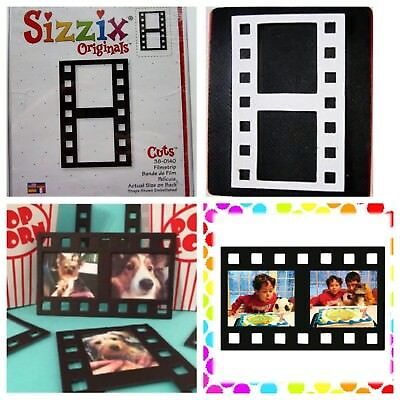 Sizzix Die Filmstrip Photo Frame Red Originals Scrapbook DieCut Retired NEW Case