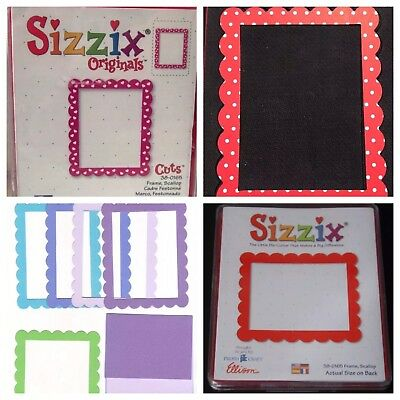 Sizzix Die Frame Rectangle Scallop Originals Photo Scrapbook Diecut Retired NEW