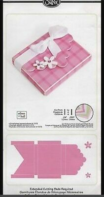 Sizzix Die Bigz XL 3D Box w/ Scallop Flap & Flowers Princess NEW Diecut Retired