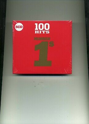 100 Hits Number 1S - Roy Orbison Harry Nilsson Europe Bros Dawn - 5 Cds - New!