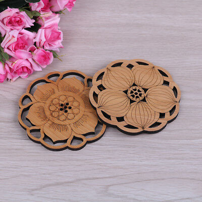 Water lily lotus drink coasters round table placemat kitchen accessor Kf