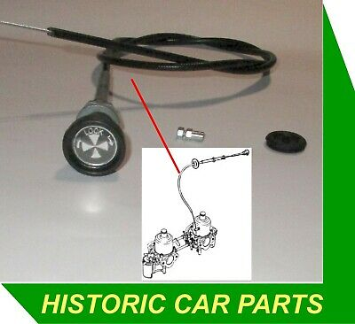 LOCKING CHOKE CABLE, CLAMP & GROMMET for MG MIDGET 1500 1974-80