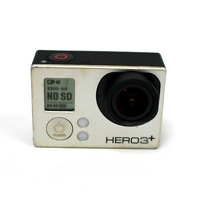 GoPro Hero 3+ Silver Edition Action Camera Camcorder w/ Battery / NO ACCESSORIES