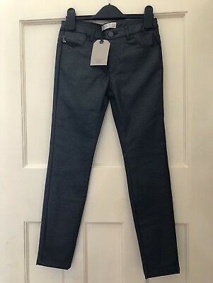 Zara Girl's Black Shiny Coated Trousers Age 9-10 Bnwt