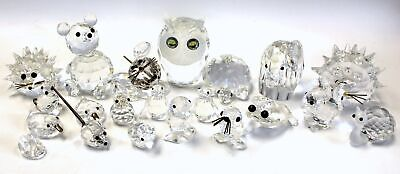 Large Collection of SWAROVSKI CRYSTAL Animal Ornaments/ Figures  - L27