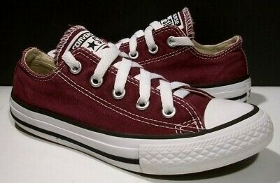 025133e6904ff0 Converse Chuck Taylor All Star Burgundy Ox Canvas Low Sneakers 13Y 31  339794F