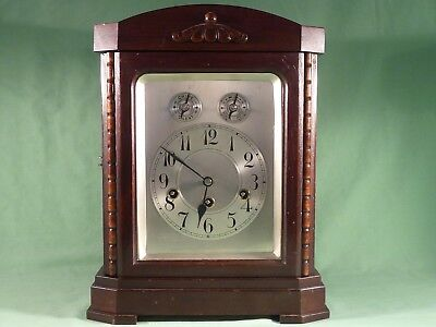 Junghans Wurttemberg Mahogany Bracket Clock Westminster Chimes