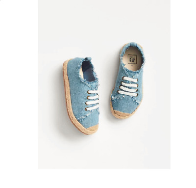 SZ 9 BABY GAP KIDS Blue Chambray Espadrille Sneakers Toddler Girl NWT
