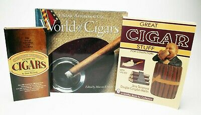 Three Serious Books For Smokers & Cigar Stuff Collectors. You Must Have Them.