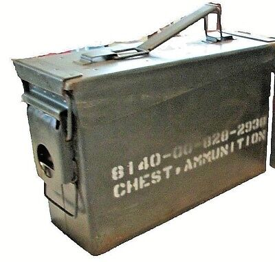 Ammo Can Box US Army Military Surplus M19A1 30 Cal Ammunition Metal Storage