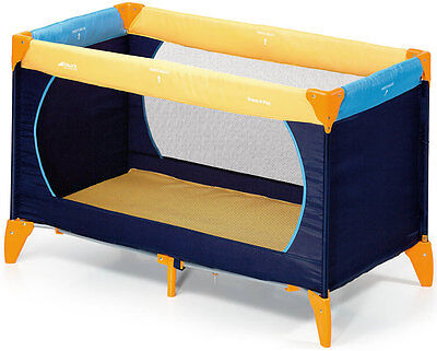 Hauck Dreamn Play Yellow Blue Travel Bed New
