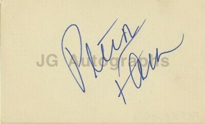 Peter Falk - Actor from TV's Columbo - Authentic Autographed 3x5 Card