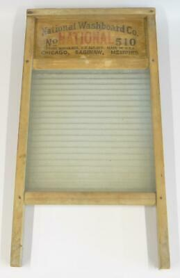 "National Washboard Co. No. 510 Ribbed Glass 24"" X 12.5"""