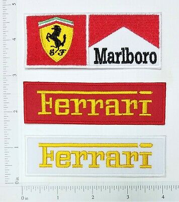 FERRARI Logo Embroidered Iron On Patch badge applique sport Supercar