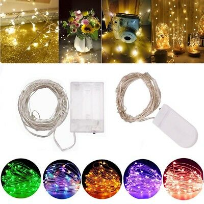 10-100 LED Battery Micro Rice Wire Copper Fairy String Lights Party white/rgb Yc