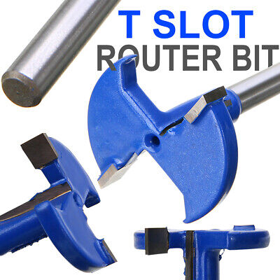 1/4 Inch Shank T Slot Router Bit T-Track Woodworking Milling Slotting Cutter AU