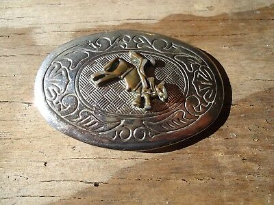 Belt Buckle Bull Rider Western Rodeo Kids Gift approx. 3 x 2.25 in (I)