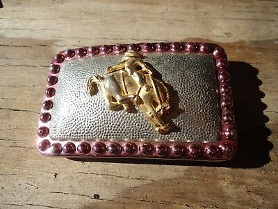Belt Buckle Lady Bronco Buster Western Rodeo Gift approx. 3 x 2.25 in (I)