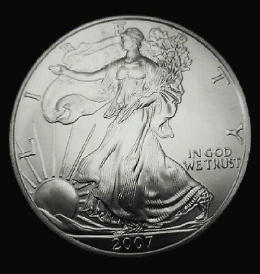 2007 American Silver Eagle BU Coin 1 oz US $1 Dollar Uncirculated Brilliant *007