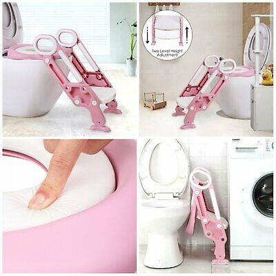 Babys Kids Toddler Potty Toilet Ladder Trainer Safety Seat Chair Step Stool USA
