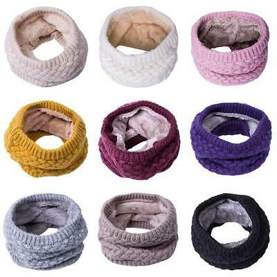 Women Infinity Scarf Multicolor Warm Soft Winter Neck Circle Wool Cowl Shawl AL