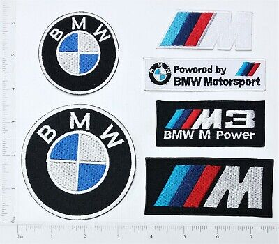 BMW Logo Embroidered Iron On Patch badge applique sport Cars