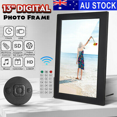 """13"""" HD 1080P LED Digital Photo Picture Frame Movie Player Video + Remote Control"""