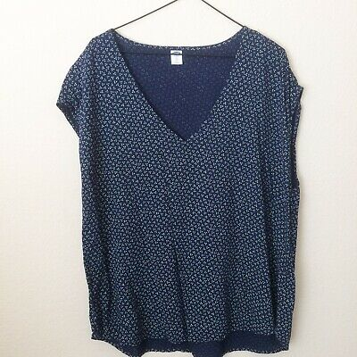 9d155c7a028f98 OLD NAVY RED Long Sleeve Scoop Neck Floral Print Boho Peasant Top ...