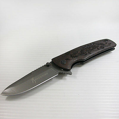New !  Browning  Opening Folding Stainless Steel Pocket Knife  Outdoor Tools