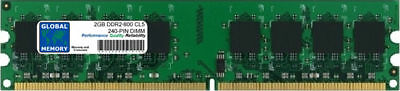 2GB DDR2 800MHz PC2-6400 240-PIN DIMM MEMORY RAM FOR DESKTOPS/PCs/MOTHERBOARDS