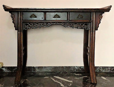 CINA (China): Old and fine Chinese lacquer wood altar table