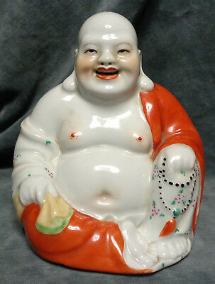 CINA (China): Old Chinese porcelain Buddha figurine