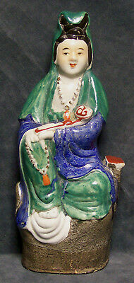CINA (China): Old Chinese porcelain Guan yin figurine