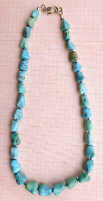 CINA (China): Old Chinese Turquoise nugget beads necklace