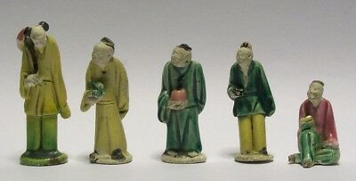CINA (China): 5 old Chinese miniature figurines
