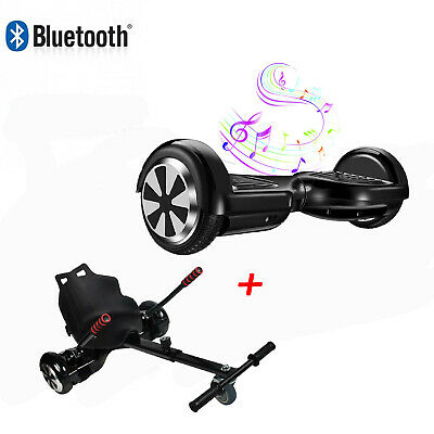 """6.5"""" Bluetooth Hoverboard Self balance Electric Scooter + Hoverkart Go Kart Seat"""