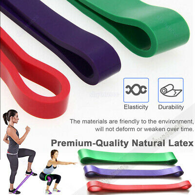 3 Level Resistance Bands Exercise Loop Crossfit Heavy Duty Training Pull Up Band