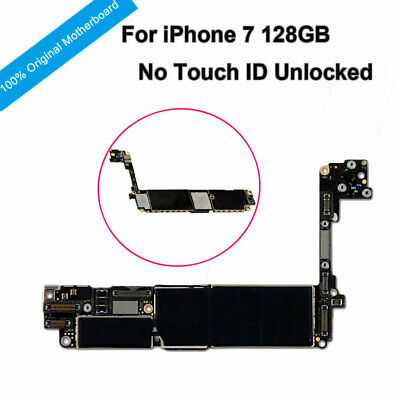 Original Motherboard NO Touch ID Unlocked Mainboard Logic Board For iPhone 7 4.7