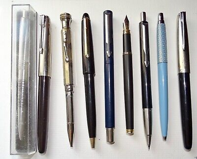 Vintage Mixed Lot of 9 Fountain, Ball Point Pens & Mechanical Pencils for spares