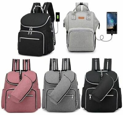 3Pcs Baby Diaper Nappy Mummy Changing Bag Backpack Multi-Function Hospital Bag
