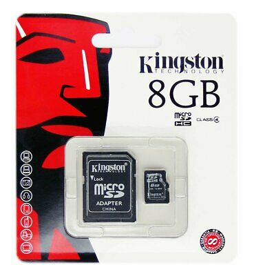 Kingston 8GB 8 GB MicroSD Micro SD Card Speicherkarte Karte TF