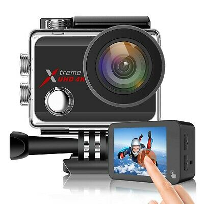 Campark Action Sports Camera 4K 20MP WiFi Dual LCD Unterwasserkamera Touchscreen