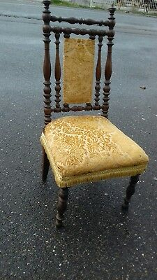 French Antique 19Thc Dining Occasional Oak Chair From Brest Britanny Very Solid