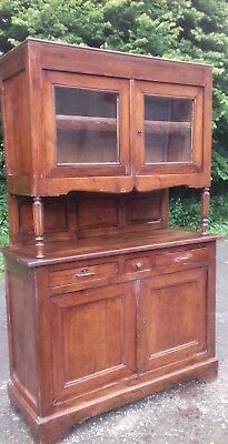 Antique 19Thc French Pitched Pine Dresser/ Cupboard From A Seine Valley Chateau