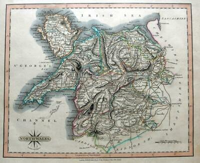 NORTH WALES   ANGLESEY  BY JOHN CARY GENUINE ENGRAVED ANTIQUE MAP  c1809