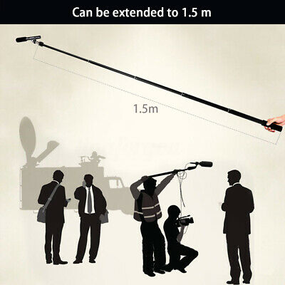 Micro Boom Pole Microphone Mic Holder 5 Section Boompole 35.5cm-150cm  US